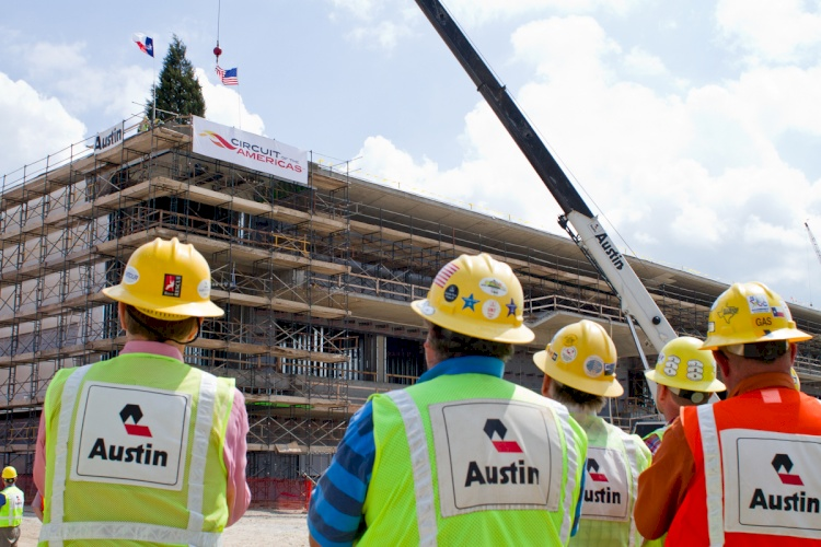 COTA Celebrates Topping Out of Pit Building